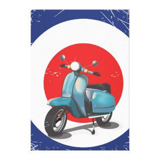 Mod Motorbike vintage poster Canvas Print