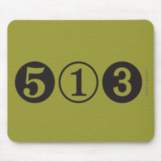 MOD Mousepad del código de área 513 Tapete De Ratones