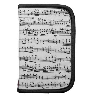 Mod Musician Music Notes Day Planner Folio Case