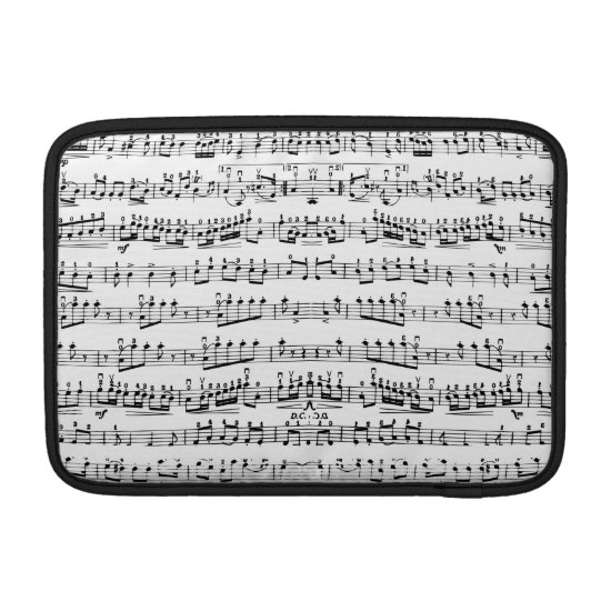 Mod Musician Music Notes MacBook Air Sleeve