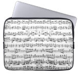Mod Musician Music Notes Pattern Laptop Sleeve