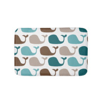 Mod Nautical Ocean Whales Bath Mat