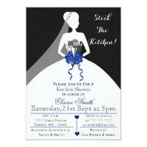 Mod Navy stock the kitchen Bridal shower Invite