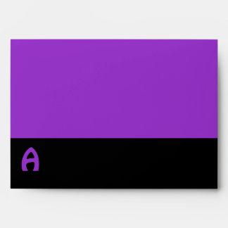 MOD negra púrpura del monograma de moda