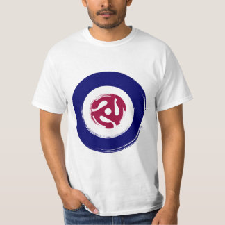 Mod Northern soul design with vinyl adaptor T-shirt