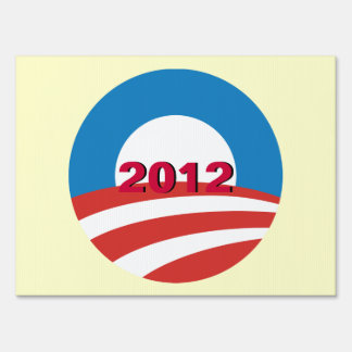 Mod O 2012 Obama Double Sided Yard Sign