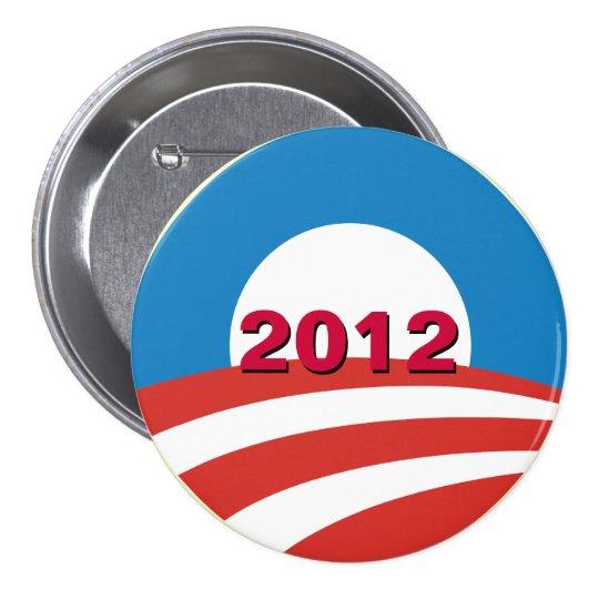 Mod Obama 2012 Campaign Button (Pin)
