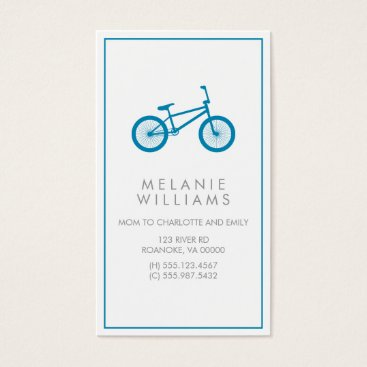 heartlocked Mod Ocean Blue Bicycle Business Card