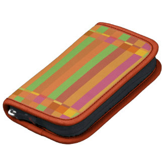 Mod Orange and Green Stripes and Squares Organizer