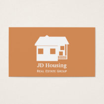 Mod orange brown Classy Real estate  businesscards Business Card