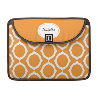 Mod Orange Circles Rickshaw Sleeve for MacBook Pro