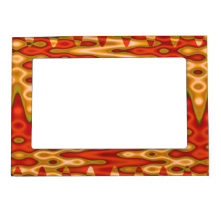 mod orange yellow abstract magnetic photo frame