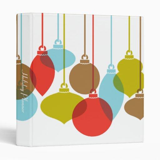 Mod Ornaments Retro Christmas Binder