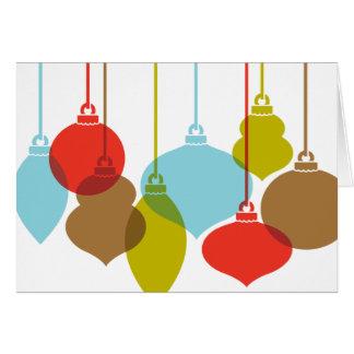 Mod Ornaments Retro Christmas Cards