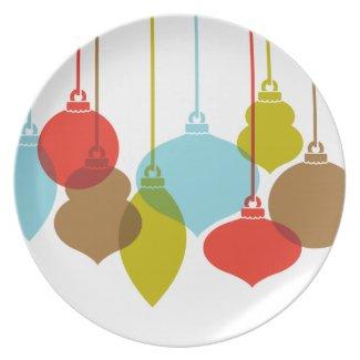 Mod Ornaments Retro Christmas Plate