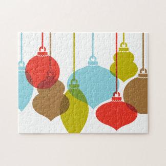 Mod Ornaments Retro Christmas Puzzle