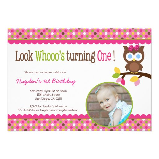 Owl First Birthday Invitations was very inspiring ideas you may choose for invitation ideas