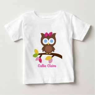 Mod Owl Design Birthday Party Invitation Favors Baby T Shirt