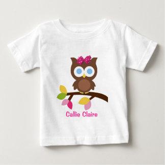 Mod Owl Design Birthday Party Invitation Favors Baby T-Shirt