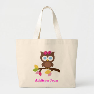 Mod Owl Design Birthday Party Invitation Favors Canvas Bags