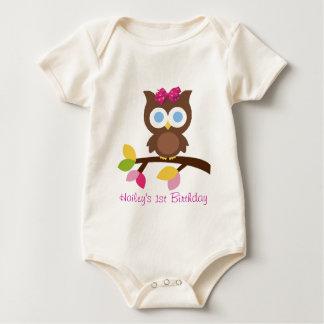 Mod Owl Design Birthday Party Invitation Favors Bodysuit