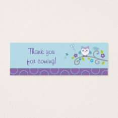 Mod Owl Forest Goodie Bag Tags Gift Tags at Zazzle