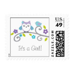 Mod Owl Forest Personalized Postage Stamps