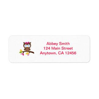 Mod Owl Return Address labels
