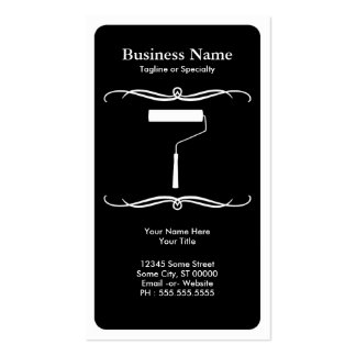 mod paint roller Double-Sided standard business cards (Pack of 100)