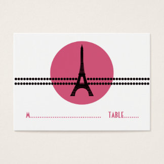 Mod Parisian Dots Place Card, Pink Business Card
