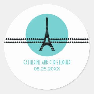 Mod Parisian Dots Stickers, Aqua
