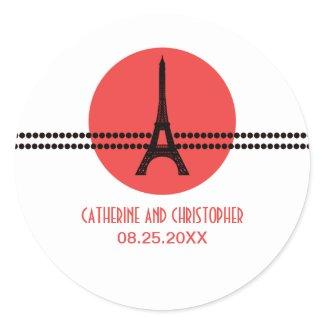Mod Parisian Dots Stickers, Red sticker