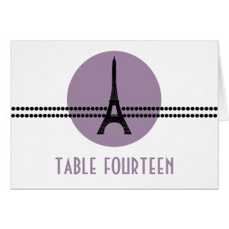 Mod Parisian Dots Table Card, Purple card