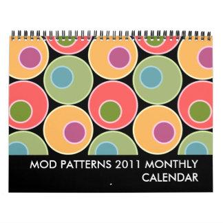 Mod Patterns 2011 Monthly Calendar - Medium