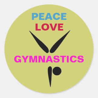 Mod Peace Love Gymnastics Large Stickers