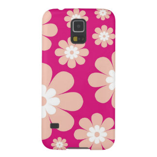 Mod Peach Flowers On Pink Galaxy S5 Cover