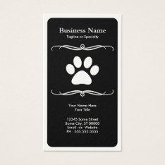 Mod Pet Paw Business Card at Zazzle
