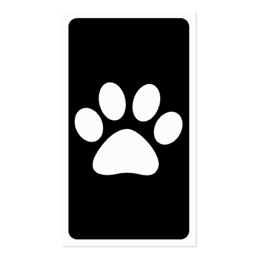 mod pet paw business card (back side)