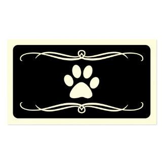 mod pet paw business cards