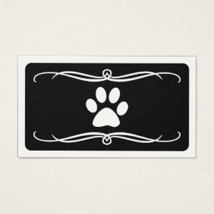 Overnight business cards templates zazzle mod pet paw business card colourmoves Gallery