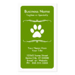 mod pet paw loyalty card business card templates