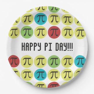 Mod Pi  - Colorful Pi 9 Inch Paper Plate