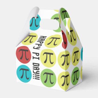 Mod Pi  Day - Colorful Pi Symbol Circles Favor Box