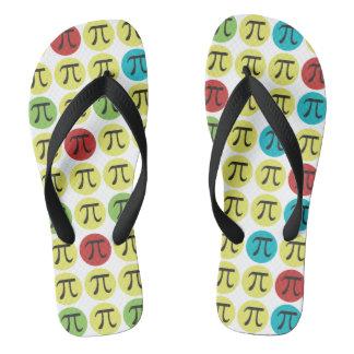 Mod Pi Flip Flops - Colorful Pi