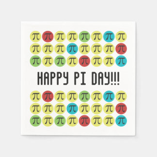 Mod Pi - Happy Pi Day Party Standard Cocktail Napkin