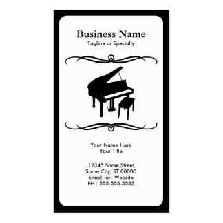 mod piano business card templates