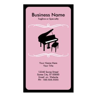 mod piano business card