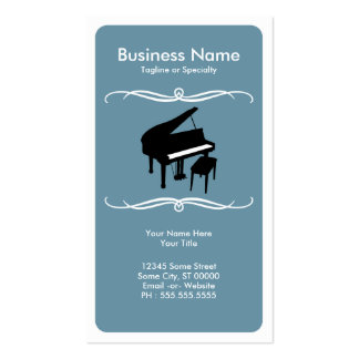 mod piano business card