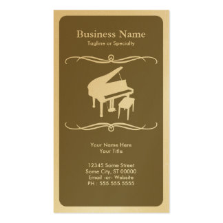mod piano business card template
