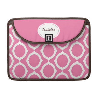 Mod Pink Circles Rickshaw Sleeve for MacBook Pro